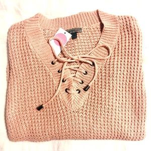 Sweaters - Pink Knitted Sweater